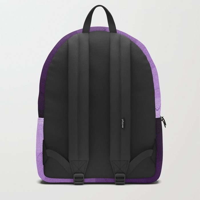 geometric pattern purple, pink and black Backpack