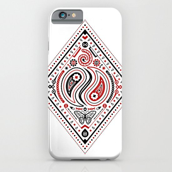 83 Drops - Diamonds (Red & Black) iPhone & iPod Case