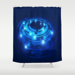Abstraktion in Blau Shower Curtain