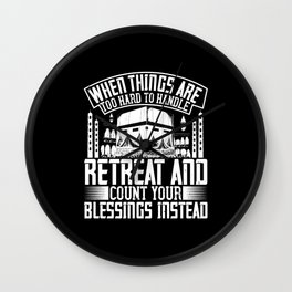 Islam - When Things Are Too Hard Too Handle Wall Clock