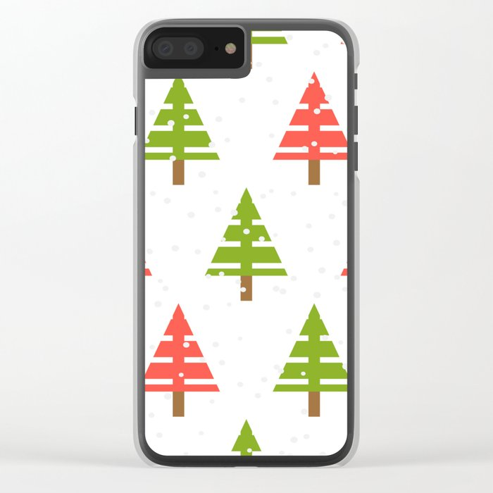 Christmas tree. Clear iPhone Case