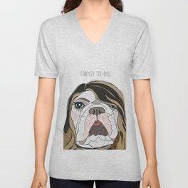 Celebrity Dogs-Christy Tei-Dog Unisex V-Neck