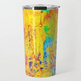 Imaginäre Landschaft - Ölgemälde auf Leinwand Travel Mug