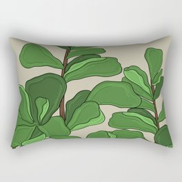 Fiddle Leaf Fig Rectangular Pillow
