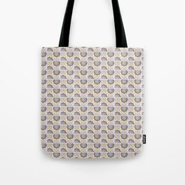 Vintage Floral Design - Antique Colors Pattern Tote Bag