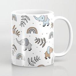 Little Elephant safari rainbow love neutral nursery Coffee Mug