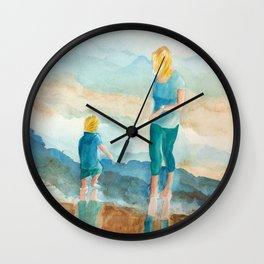 Joy On The Beach Wall Clock