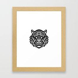 Tiger Head (Geometric) Framed Art Print