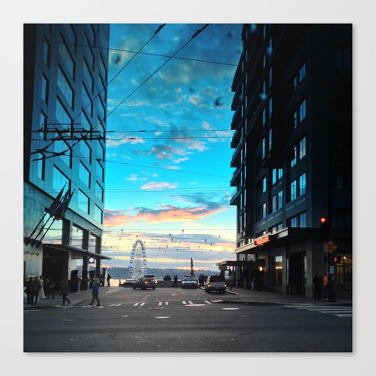 Seattle Summer Sunset Canvas Print
