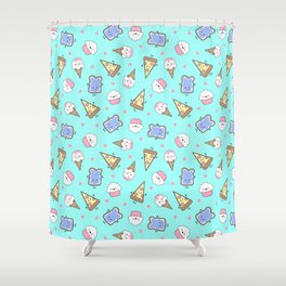 Junk Food Shower Curtain