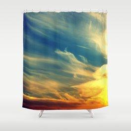 Firing Clouds Shower Curtain