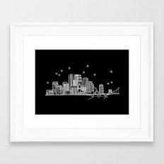 Minneapolis, Minnesota City Skyline  Framed Art Print