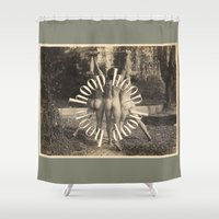 health Shower Curtains featuring Men's Health Hooping by mentalembellisher