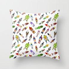 Butt of Superhero Villian - Light Throw Pillow