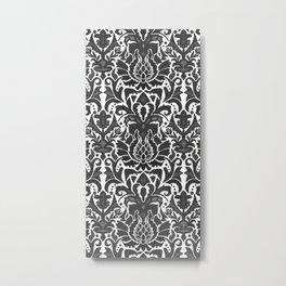 Aya damask mono Metal Print