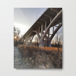Frosted Bridge Metal Print