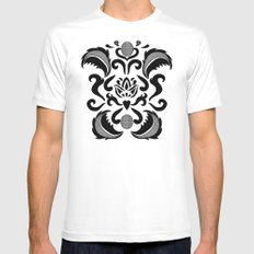 Lase White Mens Fitted Tee MEDIUM