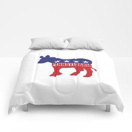 Pennsylvania Democrat Donkey Comforters