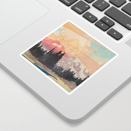 Storms over Keiisino Sticker