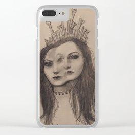 The Bone Queen Clear iPhone Case