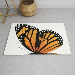 Monarch Butterfly | Right Butterfly Wing | Vintage Butterflies | Rug