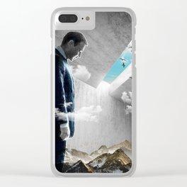 Concrete Landscape Clear iPhone Case