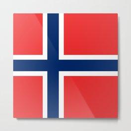 Flag: Norway Metal Print