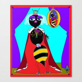 Queen Bee with Curtain Drawn Canvas Print
