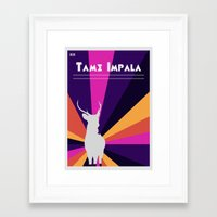 tame impala Framed Art Prints featuring Tame Lsd by OEVB