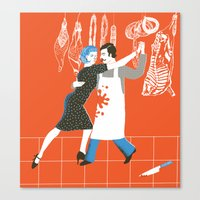 meat Canvas Prints featuring Meat by avital manor