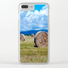 Rolls of hay Clear iPhone Case