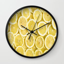 Lemon pattern #society6 #decor #buyart Wall Clock