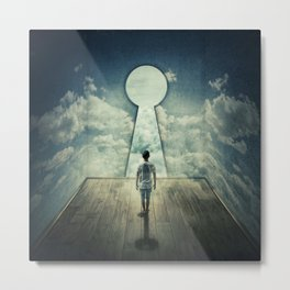 keyhole in the wall Metal Print