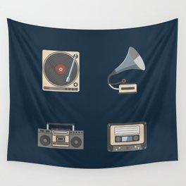 Retro music Wall Tapestry