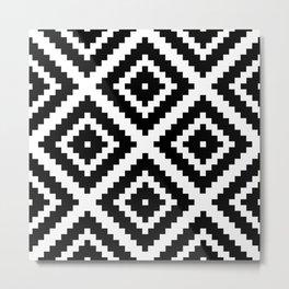 Aztec Diamond Geometric Pattern Metal Print