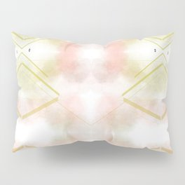 Beige Scandinavian marble texture Soft cloud Pillow Sham
