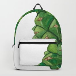 Shy Green Pinecone Backpack