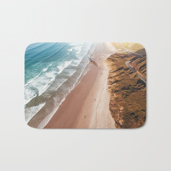 Beach from above Bath Mat