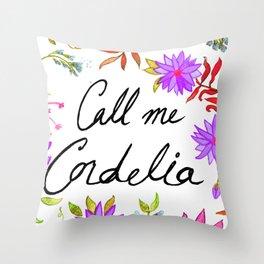 Call Me Cordelia - Purple Flowers Throw Pillow