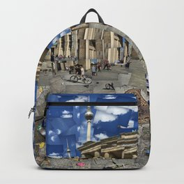 Brandenburg Gate - Photomontage Collage Backpack