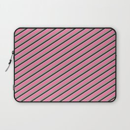 Pink Roses in Anzures 4 Stripes 2D Laptop Sleeve