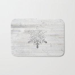 Snow in Silver Bath Mat
