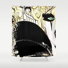 HIPPODROME HARLEQUIN PIERROT Shower Curtain