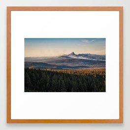 Wildfires at Mount Thielsen Basin Framed Art Print