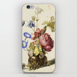 Dirck De Bray - Flowers In A Bottle iPhone Skin