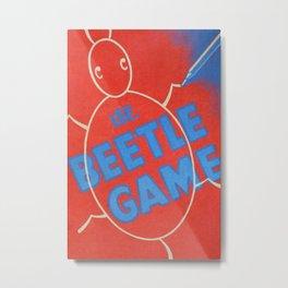 Vintage Beetle Game Metal Print