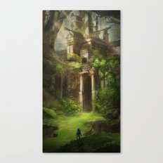 Forest Temple - Large Version  Canvas Print