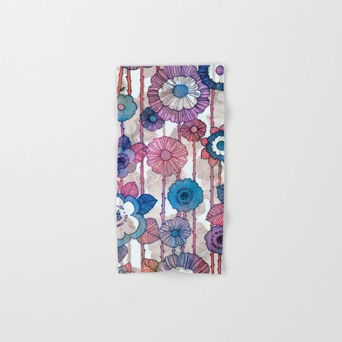 Hanging Flower Garland Hand & Bath Towel