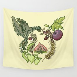 Botanical Pig Wall Tapestry