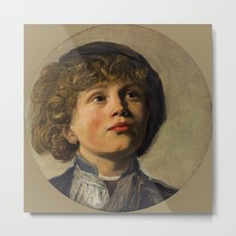 "Frans Hals ""Head of a boy wearing a baret"" Metal Print"